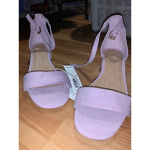 NWT Faux Suede Low Heel